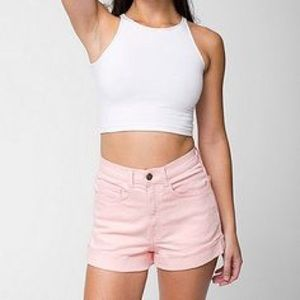 American Apparel Pink High Waisted Shorts